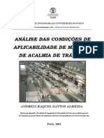 Análise Das Condições de Aplicabilidade de Medidas de Acalmia de Tráfego