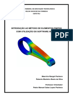 Apostila MEF (Método Dos Elementos Finitos) Utilizando ANSYS - Prof. Pedro Manuel (CEFET-RJ)