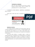 Aviso de Benzeno e Emissoes PPRA Posto