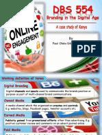 DBS 554 Branding in the Digital Age