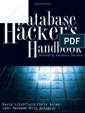The Database Hackers Handbook By David Litchfield Et Al