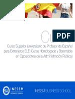 Curso Superior Universitario Profesor Espanol Extranjeros