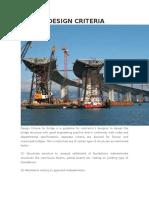 Bridge Design Criteria