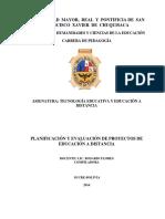 Planificación y Evaluación de Programas de Educación a Distancia