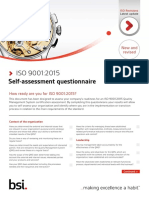 ISO 9001 FDIS Self Assessment Checklist FINAL July 2015