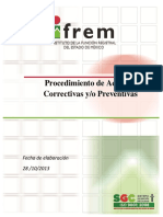 Procedimiento de Acciones Preventivas y Correctivas