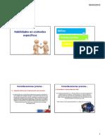 Habilidades del Psicólogo en Contextos Específicos