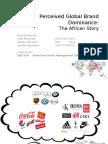 Global Brand Dominance - Africa's Story