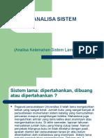 Analisa Sistem