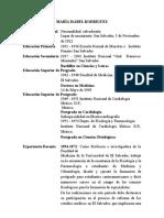 Hoja de Vida de Dra. María Isabel Rodríguez