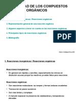 Reactividad de Los Compuestos Organicos