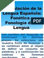 Articulación de La Lengua Española Fonética y Fonología de La Lengua
