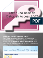 creación de una base de datos en access 2007