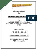 Information Practice Project Spots Shop Management System
