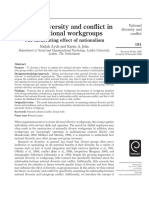 National Diversity and Conflict in Multinational Workgroups - The Moderating Effect of Nationalism