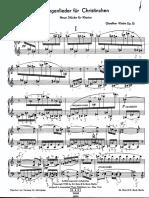 Klebe Wiegenlieder für Christinchen - Neun Stücke op13