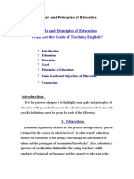 Goals and Principles of Education