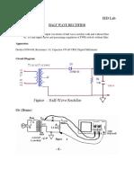 Rectifier Experiment Basic Electronics
