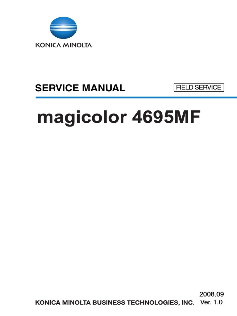Konica Minolta Magicolor 4695MF Field Service Manual | Ac Power Plugs And  Sockets | Electrical Connector