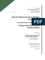Colstrip 1&2 B Flyash Pond CCR Inflow Design Flood Control System Plan October 2016 BFA