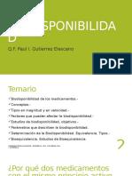 11va Semana Biofarmacia UMA Biodisponibilidad 2016-II