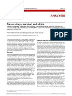 Cancer drugs, survival, and ethics