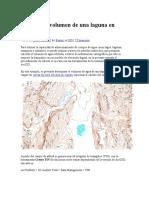 Calcular El Volumen de Una Laguna en ArcGIS