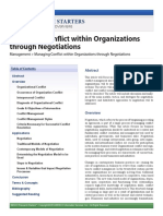 Managing Conflict Within Organizations Through Negotiation