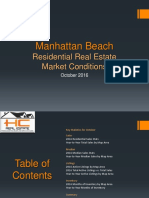 Manhattan Beach Real Estate Market Conditions - October 2016