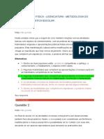 Av2 - Educação Física - Licenciatura - Metodologia Do Ensino Da Ginástica Escolar