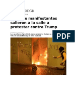 2016 11 10 El Observador - Miles de Manifestantes Salieron a La Calle a Protestar Contra Trump