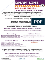 Needham Line Service Suspension