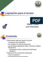 Legislación Para El Locutor