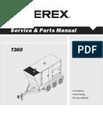 Terex T360C Manual
