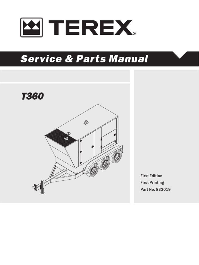 Terex T360c Manual Switch Troubleshooting Wiring Diagrams