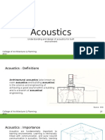 Acoustics- ANU - II Year (1)