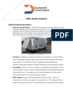 HVAC System Analysis