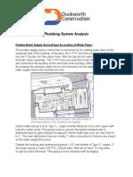 Plumbing System Analysis