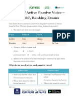 Basics of Active Passive Voice – for SSC Banking Exams