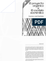 El proyecto orgánico y el modelo Xochimilco