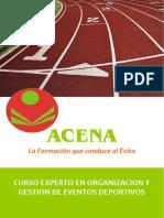 Experto Organizacion Gestion Eventos Deportivos