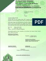 Proposal Pelantikan HMI Bangkalan - Dengan Stempel