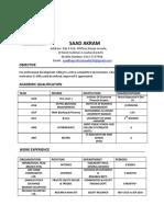 Saad Akram Resume