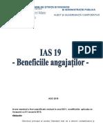 IAS 19 Beneficiile Angajatilor 1