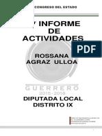1° Informe de Actividades Rossana Agraz Ulloa