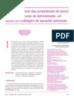 O Desenvolvimento Das Competências de Alunos Formandos Em Administraçao Modelagem de Equaçoes Estruturais