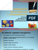 Contaminantes, Aditivos y Alimentos Trasngenicos