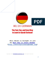 Best Way to Learn German e Book