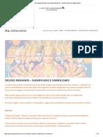 A Arte de Amadurecer _ Deuses Indianos – Significado e Simbolismo