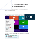 Cambiar Idioma de Windows